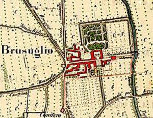 Parco di Villa Manzoni - Mappa del 1878
