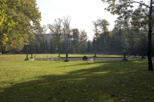 Parco di Villa Manzoni - La fontana ottagonale