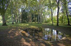 Parco di Villa Manzoni - La fontana circolare