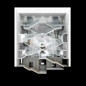 Palazzo Citterio - Sezione corpo scale